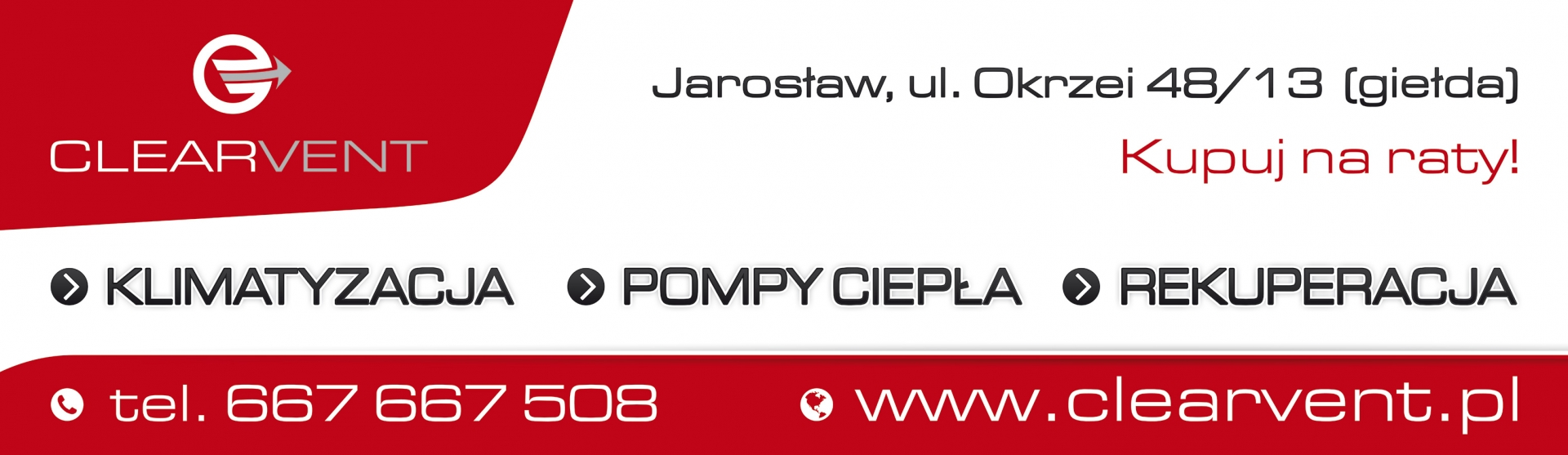 CLEARVENT - Banner 310x90cm Mały baner reklamowy