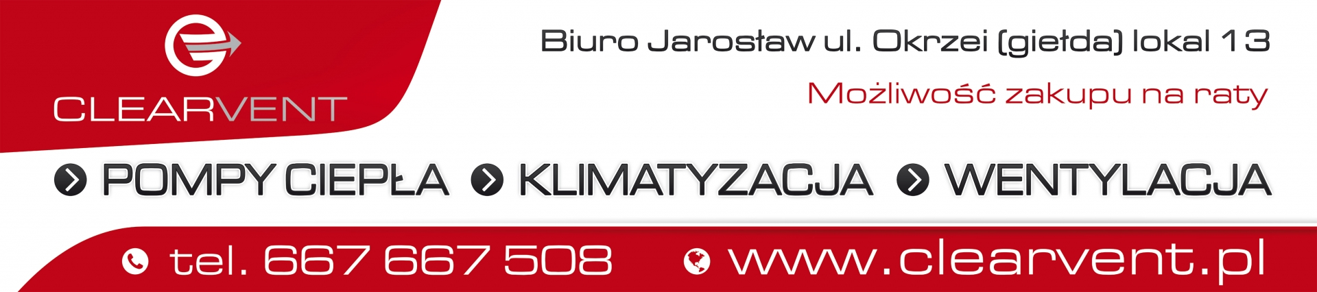 CLEARVENT - Banner 450x100cm. Banner na płoty