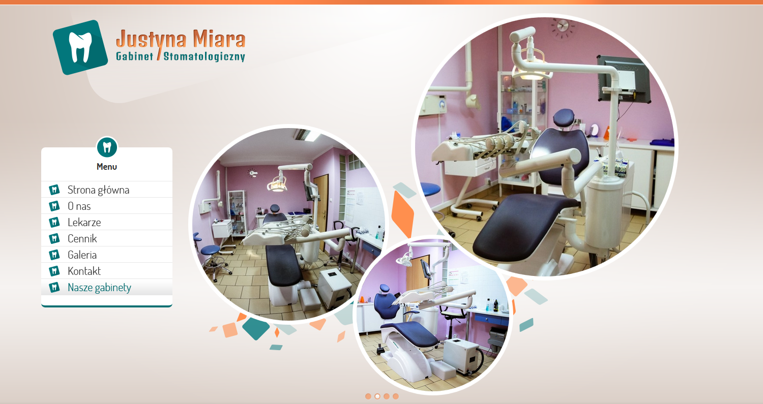 Justyna Miara - Dental Surgery. Website. Top site slider 2