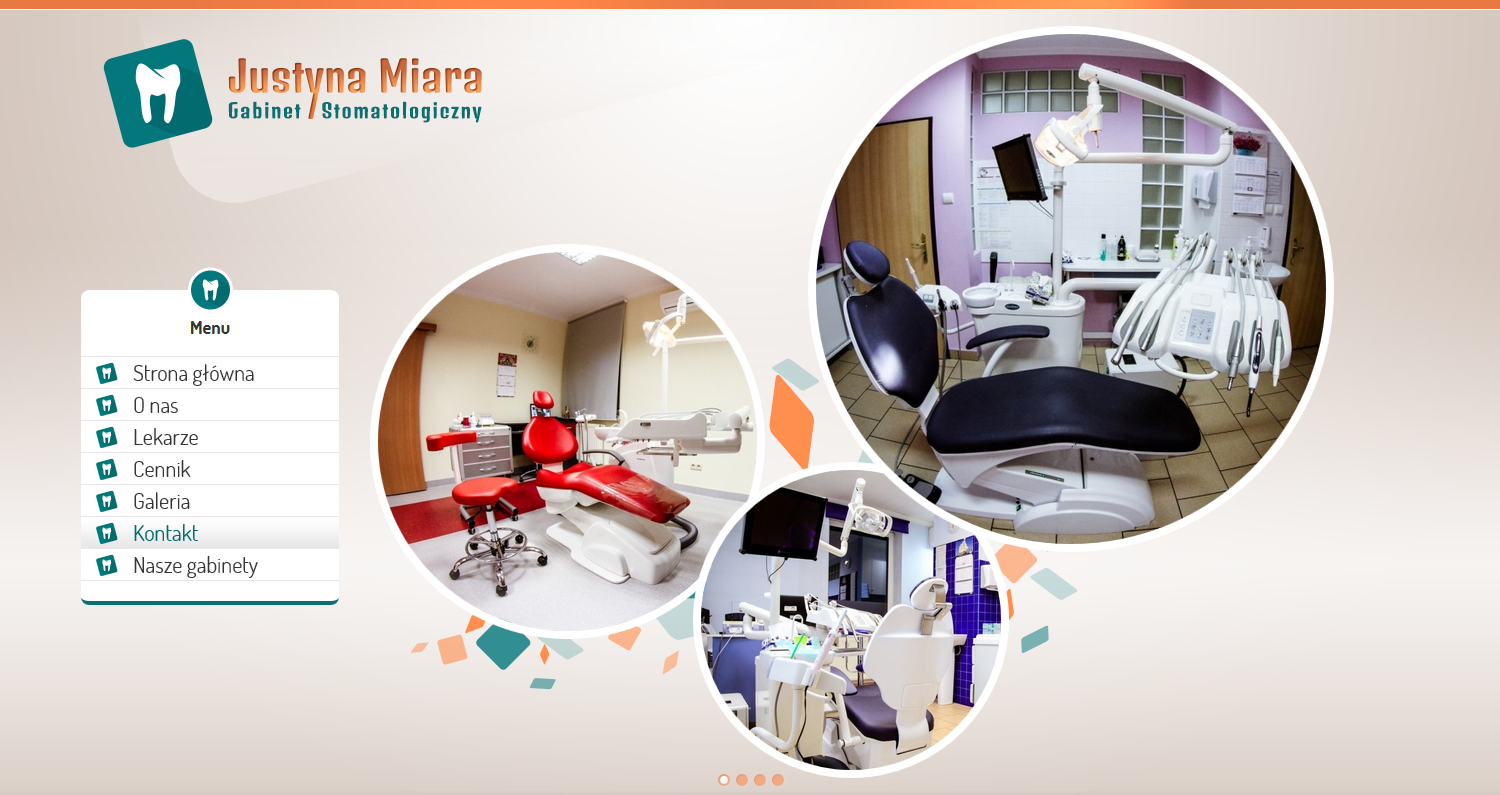 Justyna Miara - Dental Surgery. Website. Top site slider