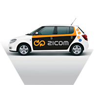 ZICOM - Skoda Fabia. Second version of car sticker
