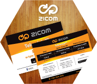 ZICOM - A5 flyer. TV