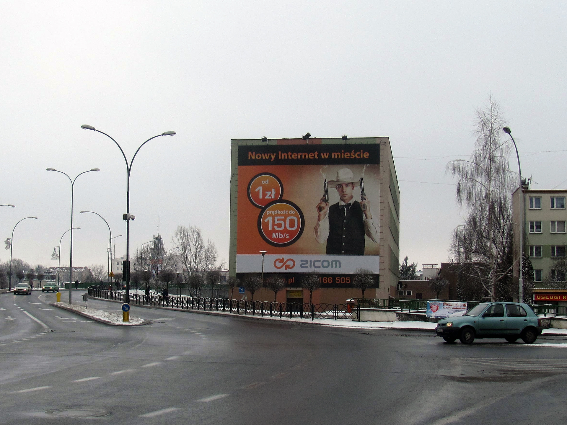 ZICOM - Big Billboard 12x12m. Real photo