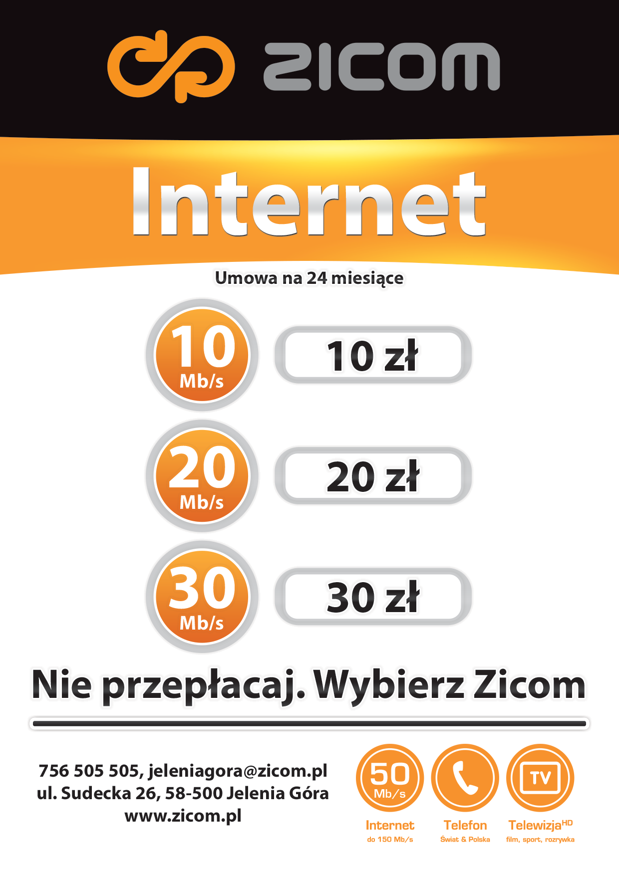 ZICOM - Flyer A6 - Internet. Back